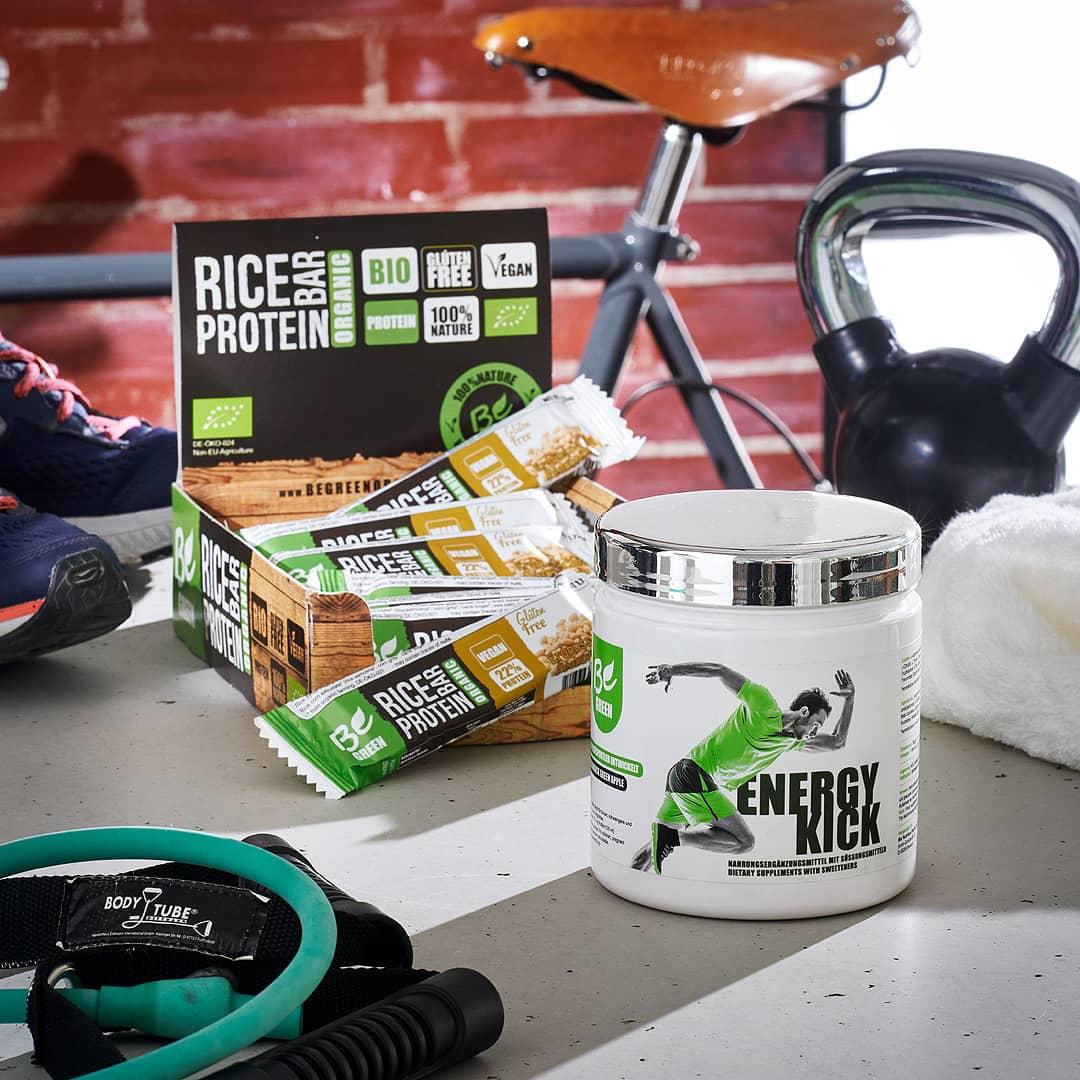Energy Kick und Tray Riegel von BeGreen kaufen