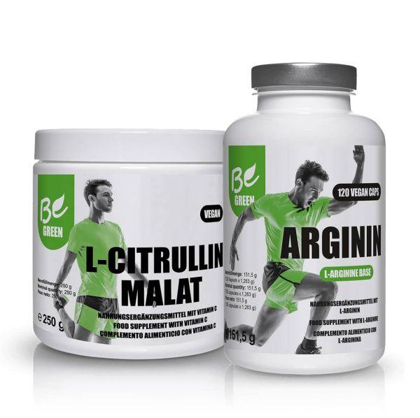 Bundle Dauerleistung - L-Arginin und L-Citrullin-Malat mit Vitamin C