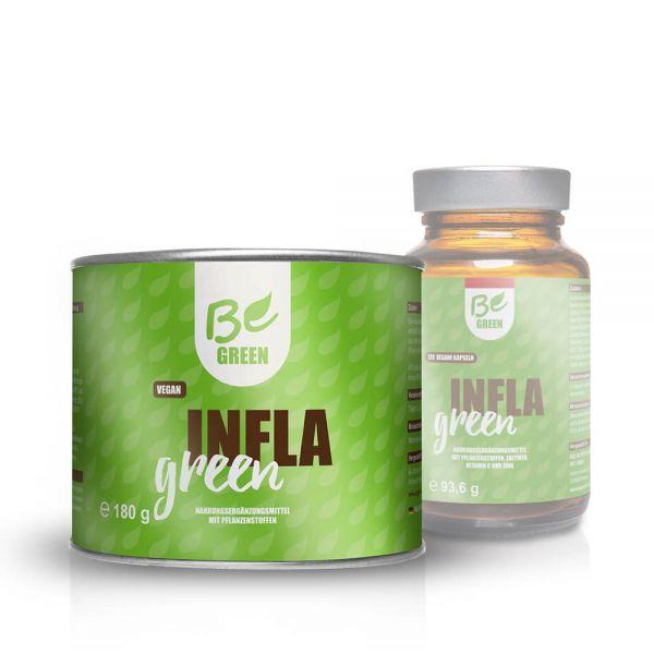 Infla Green mit Bio-Kurkuma, Ingwer und Piperin